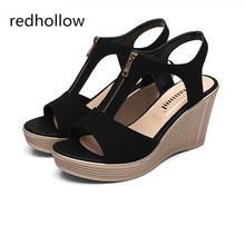 Summer Women Shoes Platform Sandals Bohemia Wedges Women Sandals Fashion Shoes High Heels Sandalias Mujer New Plus Size 35-43 karinluna wholesale bohemia style t strap women shoes summer sandals fashion wedges high heels woman shoes
