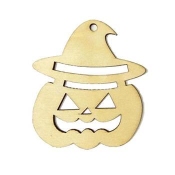 10 Uds. Etiquetas de madera con forma de cara de calabaza para decoración de la noche de Brujas o Halloween