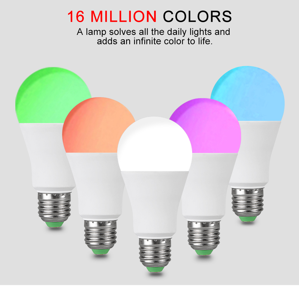 15W 20W 85-265V  RGBW LED Light Bulb Music Control 20 Modes Apply to IOS Android (4)