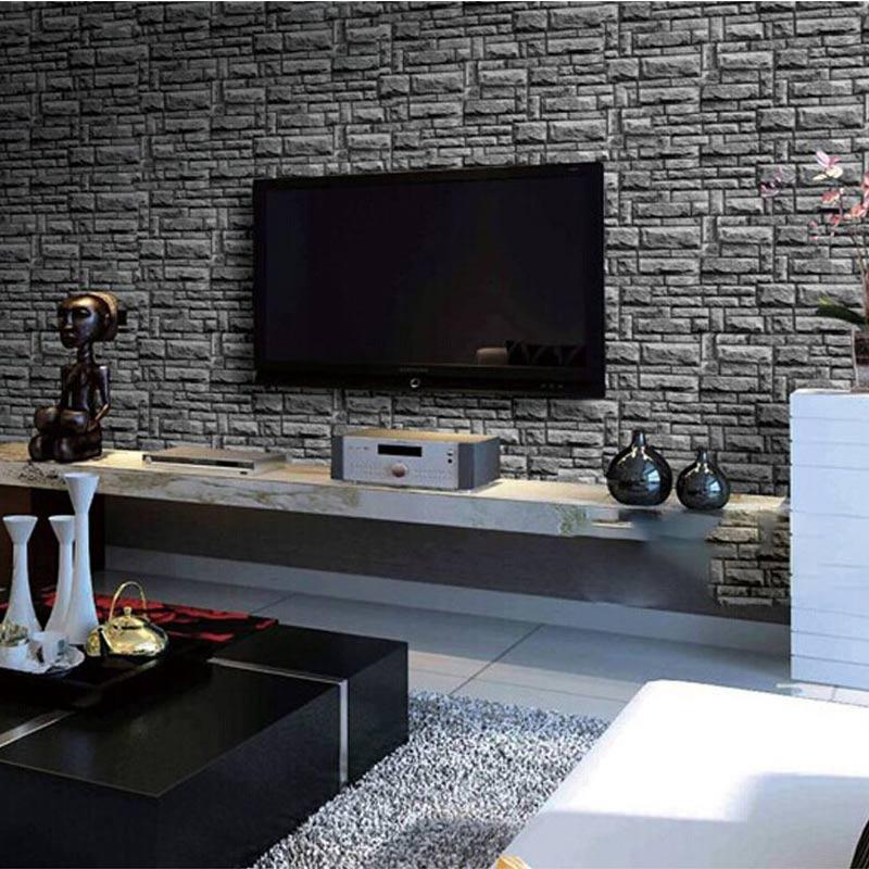 ФОТО Stone Brick Wall Wallpaper Modern Designs Home Decor Background Vinyl Wallpaper For Living Room Bedroom Walls Papel De Parede 3D