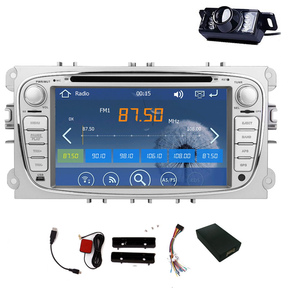 Car Radio For Ford Focus Mondeo Music Logo Camera Autoradio Player win8 Stereo RDS In Deck System GPS Navigation Car DVD SD MAP android 8 0 dab autoradio sat navi wifi 3g rds sd dvr obd bluetooth dtv in car gps navigation player for ford transit focus