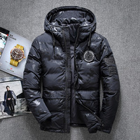 Hot Sale Windproof Down Jacket Men Warm Hooded Winter Jackets High Quality Smart Casual 70% White Parkas Coats Padded Jacket