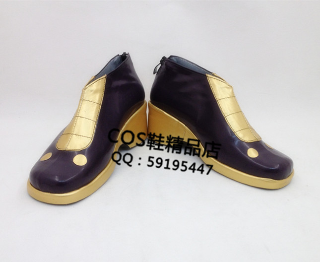 The King Of Fighters KOF Kula Diamond Purple Adult Cosplay Shoes Boots X002
