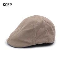 KOEP 2017 Autumn Boina Men S Cotton Benn Beret Caps For Men Newsboy Cap Peaked Hat