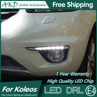Renault Koleos için AKD Araba Styling LED Sis Lambası LED DRL 2011-2014 Koleos DRL Koşu Işık Sis Lambası park Aksesuarları