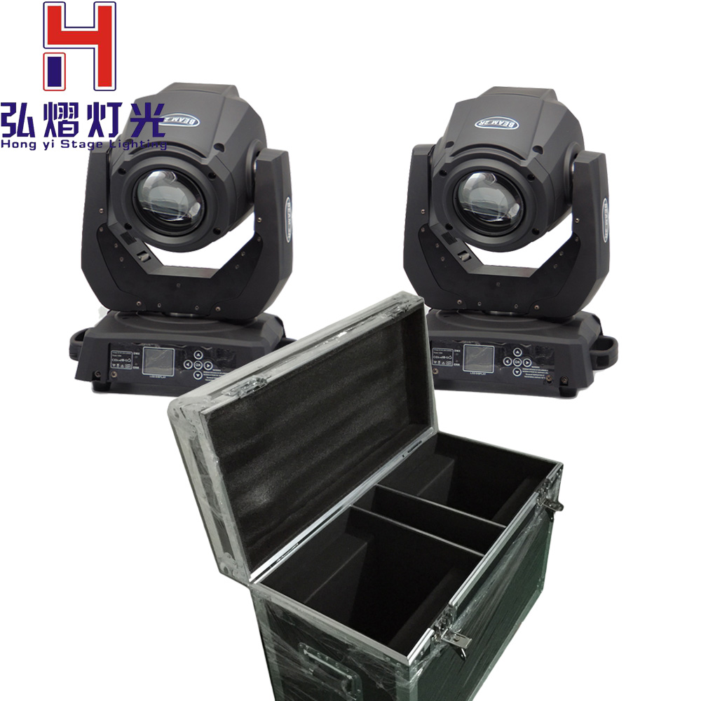 2016 hot Flight case with 2pcs 132W 2R Beam Moving Head Light 14 Channels 13 Colors+ MSD R2 White for 2R Bright Moving Head 2017 new arrival 1pcs 132w moving head stage light sharpy 2r 132w high power beam light for professional stage events lighting