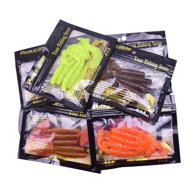 5Pcs Wobbler Jigging 8cm 4.3g curly tail Fishing Lure Soft Worm Shrimp silicone bait Fish crankbait  Ocean Rock fishing tackle
