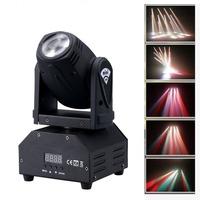 10W LED Mini Moving Head Beam Light,4in1 RGBW LED,DMX512 11/13 CH Disco Stage lighting For DJ Pub,KTV,Night Party