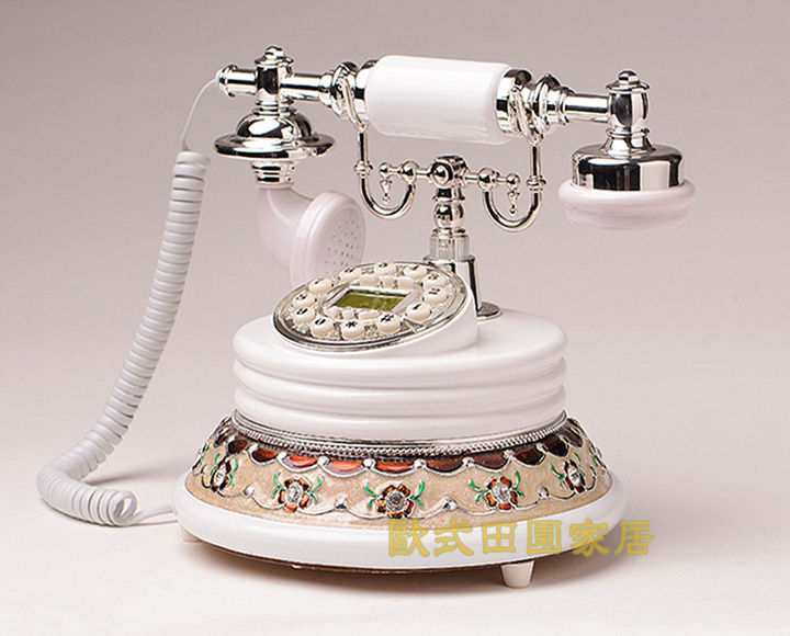 Authentic European style garden antique telephone landline telephone fixed telephone vintage retro luxury in Figurines Miniatures from Home Garden