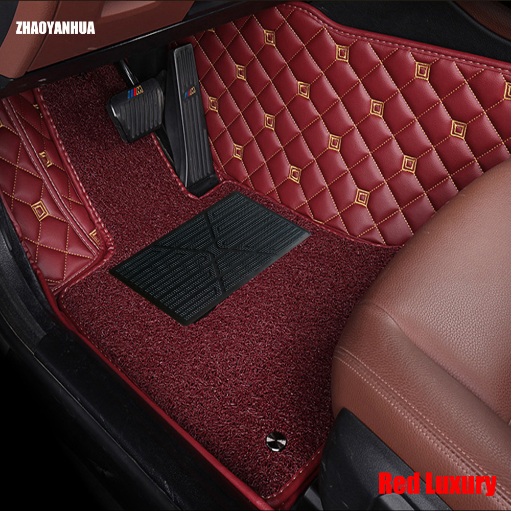 ZHAOYANHUA car floor mats for BMW 3/4/5/6 Series GT M3 X1 X3 X4 X5 X6 Z4 6D car styling all weather carpet floor liner