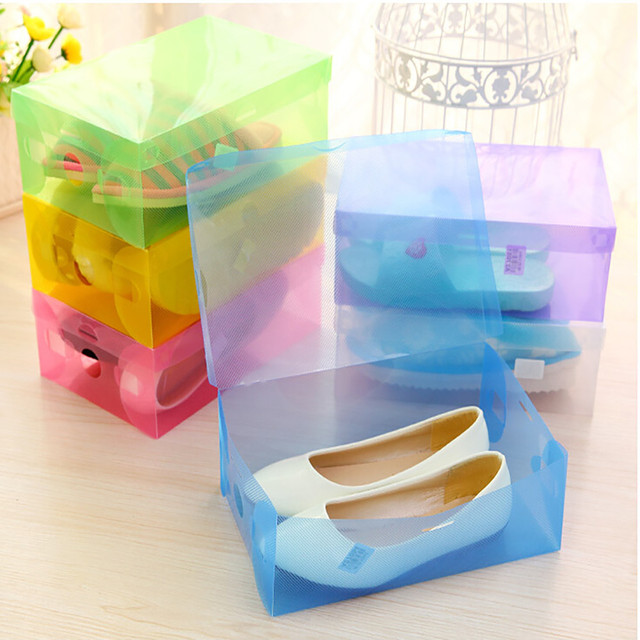 Collection Shoe Container Case 5 X Transparent Clear Plastic Shoe Storage  Organiser Foldable Boxes Home Decoration