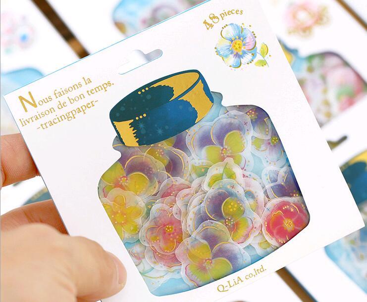 Special offer,DIY Scrapbooking PVC Kawaii Drift bottles Stickers Wedding Photo Album Cute post it Birthday Paper