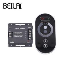 BEILAI DC 12-24V 6A/CH 3 канала Одноцветный черный RF светодиодный контроллер Полный сенсорный пульт дистанционного управления для светодиодные ленты светильник