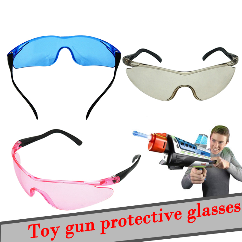 Wearable Outdoor Goggles Eyes Glasses Clear Lens Children For Nerf Gun Accessories Game Toy Water Bullet Gun Wear Spectacles