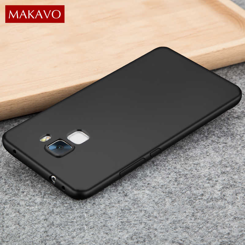 MAKAVO For Huawei Honor 7 Case High Quality Soft Silicone Matte Cover For Honor 7 Honor7 Phone Cases