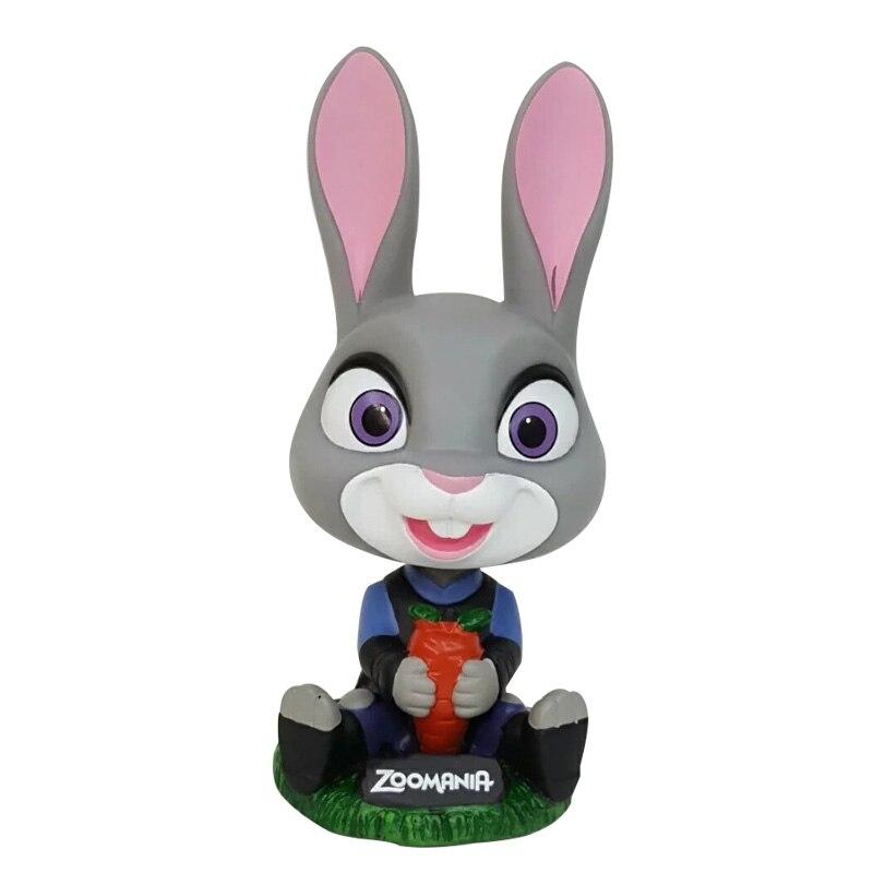 2016 Cartoon <font><b>Zootopia</b></font> Judy <font><b>figure</b></font> Head Shake Car Decoration PVC <font><b>Action</b></font> <font><b>Figure</b></font> <font><b>Funko</b></font> <font><b>Pop</b></font> Collection <font><b>Model</b></font> Kids Toy Doll