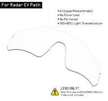 SmartVLT güneş gözlüğü yedek lensler Oakley Radar EV yolu Eclipse gri fotokromik