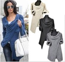 Hoodies Sweatshirts New Autumn Fashion Women S Long Sleeve Knitted Coats Jumper Knitwear Casual Outwear Coat Fast Shipping