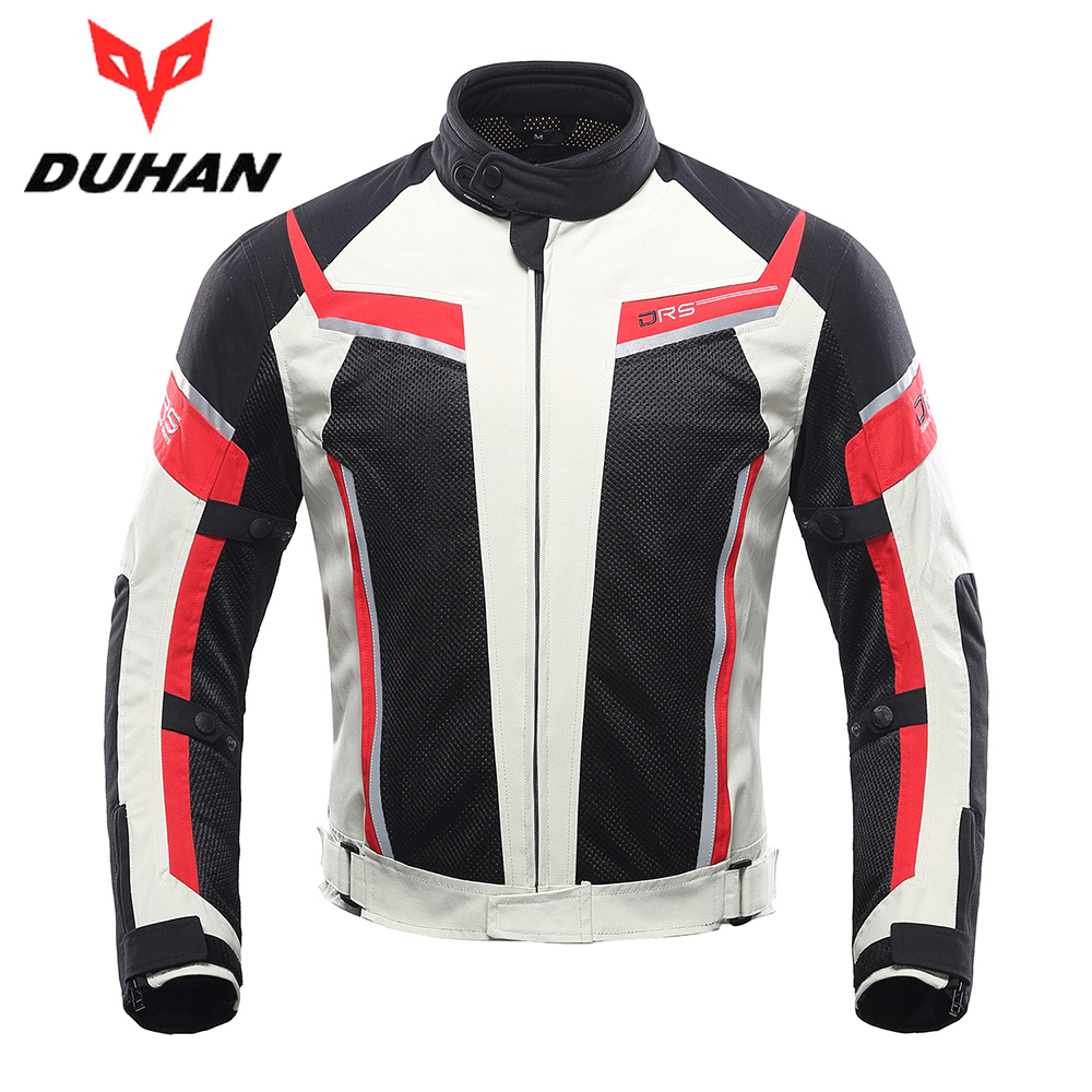 DUHAN Motorcycle Jacket Summer Breathable Men's Motocross Off-Road Jacket Mesh Moto Racing Jacket Motorcycle Protective Clothing duhan motorcycle jacket men equipment summer breathable motorbike jacket motocross off road jaqueta cloth racing moto