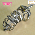 100% stainless steel metal chastity cock cage with arc-shaped penis ring soft sound horse catheter penis plug urethral dilators