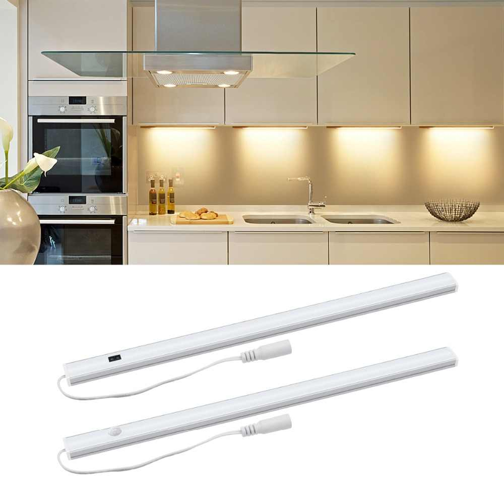 Smart On/Off LED Dapur Lampu Sensor Gerak/Hand Wave Control LED Bar Malam Light Hard Strip untuk lemari Kabinet Dekorasi Rumah