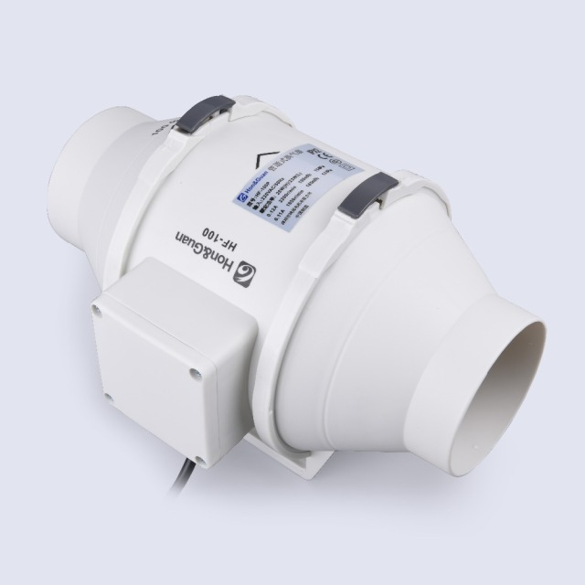 HON&GUAN HF-100P New Ventilation System Exhaust air mixedflow inline duct fan Poultry farms ventilators 110V/220V Exhaust FAN