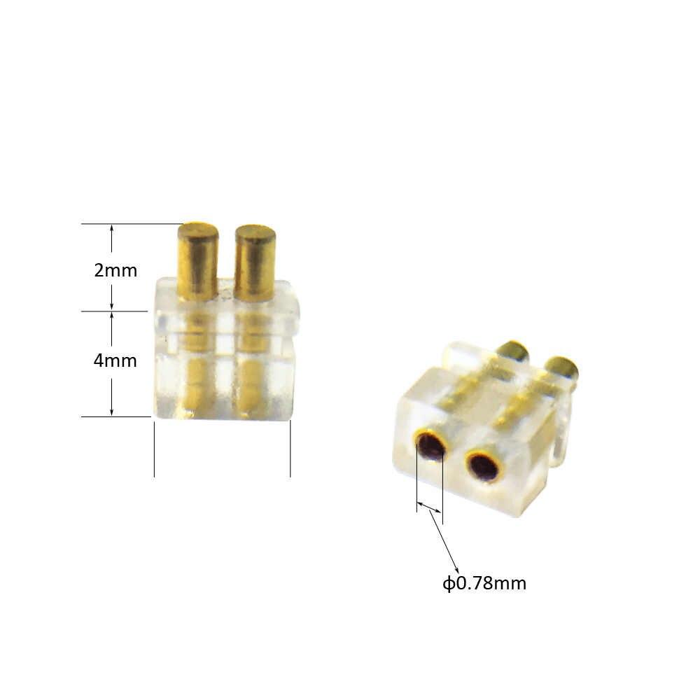 2 шт. IEM внутриканальный монитор гнездовой разъем 0,78 мм наушники шпильки разъем кабеля