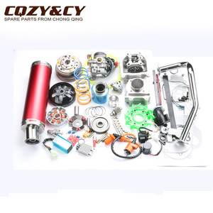 Image 2 - 52mm 105cc Big Bore Performance Kit GY6 50cc 139QMB Chinese Scooter Parts & 6 color muffler