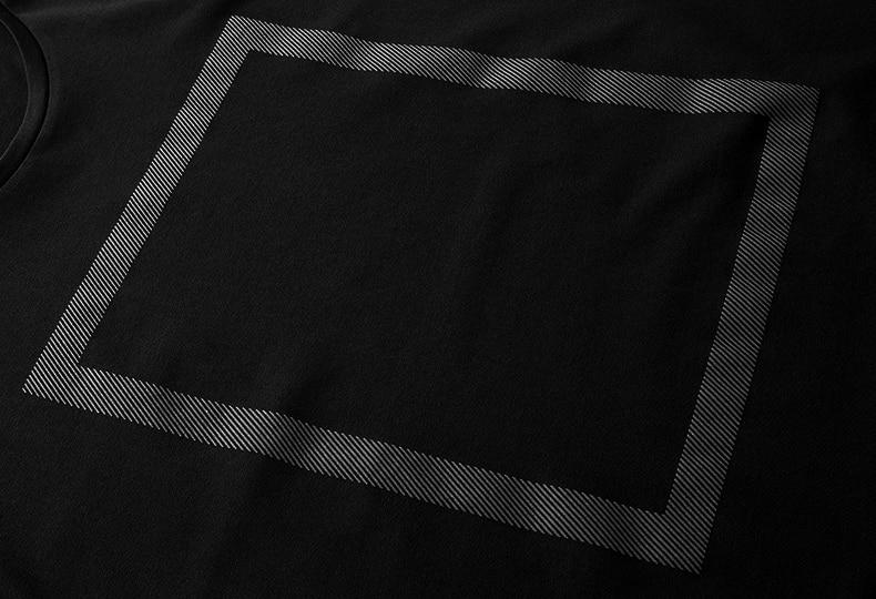 Verano para hombre camisetas de algodón de impresión negro color - Ropa de hombre - foto 5