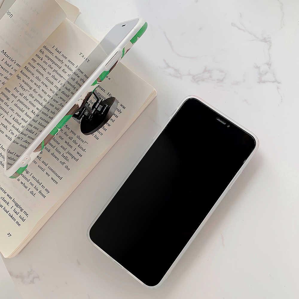 LOVECOM Ретро цветок лист стрейч держатель чехол для телефона для iPhone 11 Pro Max XR XS Max 7 8 6 Plus чехол мягкий IMD Телефон задняя крышка