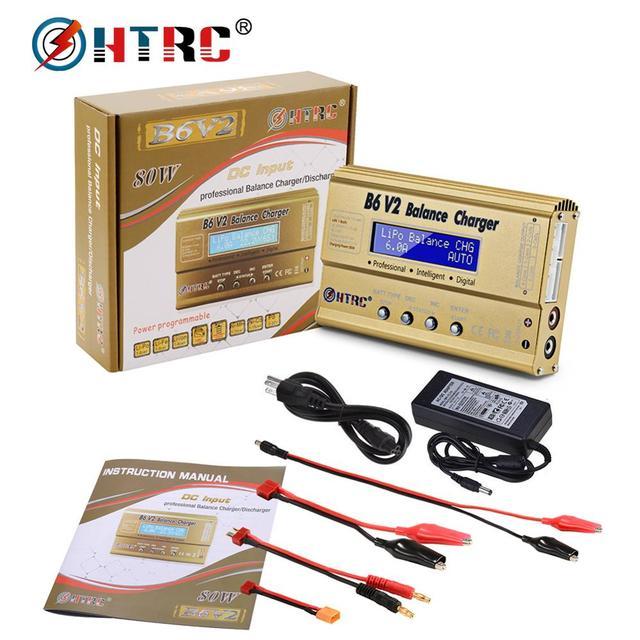 HTRC imaxB6 V2 80W LiPo Battery Charger LED Balance Discharger  6A DC11 18V for Lipo Li ion LiFe NiCd NiMH LiHV PB Smart Battery