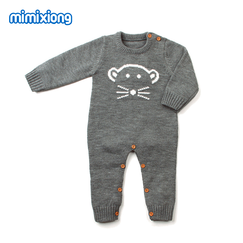 Baby Boy Romper Suits Free Knitting Toddler Girls Jumpsuits Cartoon Bear Infant Kids Overalls Outfits Animal Style Children Wear