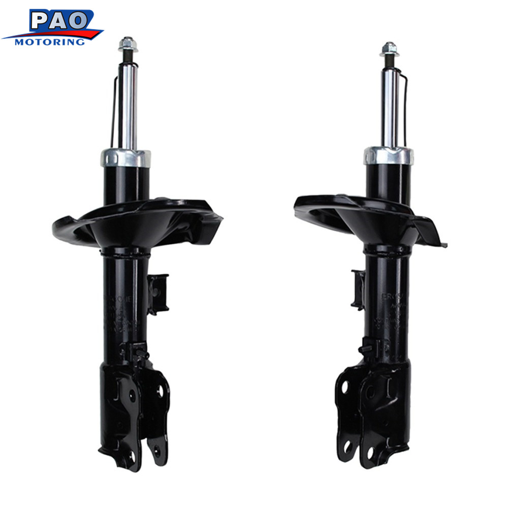 2PC New Front Left and Right Shock Strut Absorber Pair For Mitsubishi Lancer 2008-2011 OEM 72356,72355 Car auto suspension parts bore 16mm x200mm stroke double action type aluminum alloy mini cylinder pneumatic cylinder air cylinder