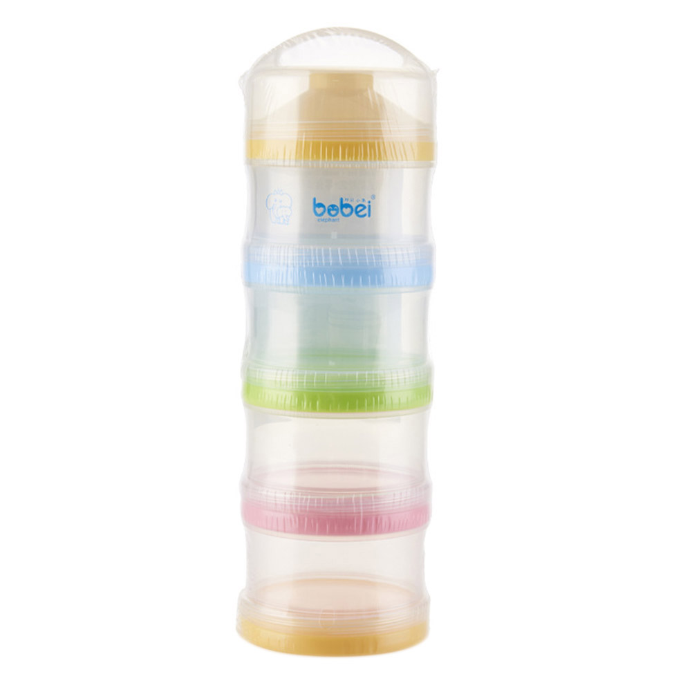 Portable 4 Layers Infant Milk Powder Container Newborn Baby Feeding Food Bottle Snacks Candy Storage Box @ZJF