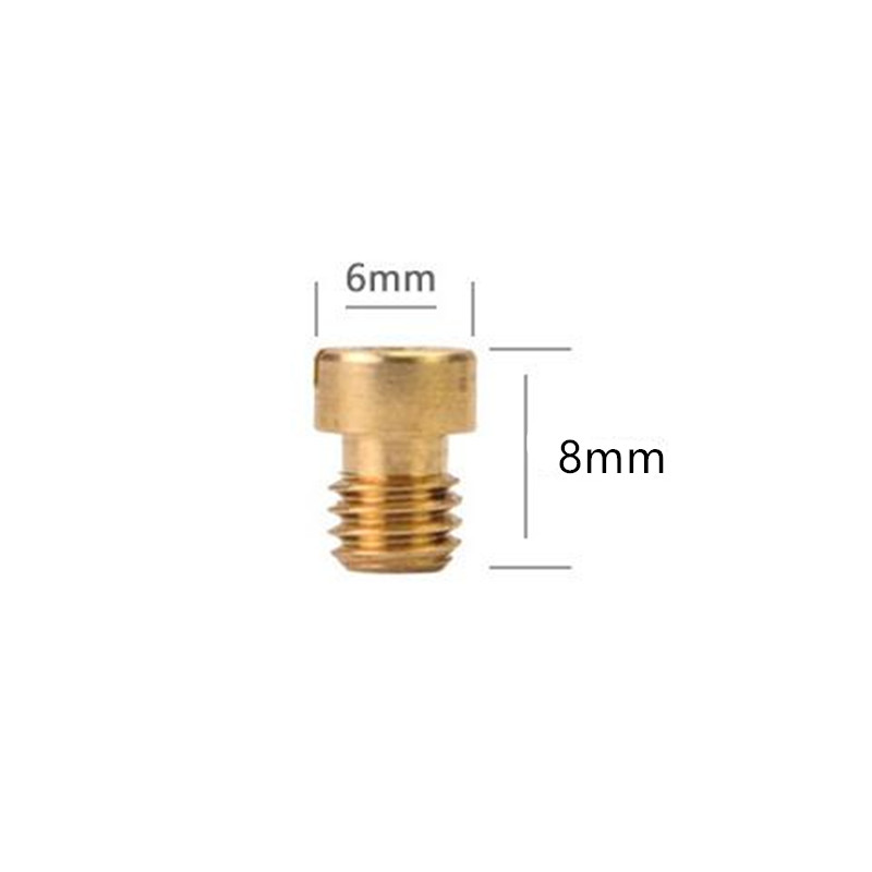 10 Pcs M5 Round Head Main Jet 4mm for <font><b>GY6</b></font> <font><b>50cc</b></font> 139QMB Scooter Keihin Carb PZ19 <font><b>Carburetor</b></font> Size 60-150 injectors Nozzle image