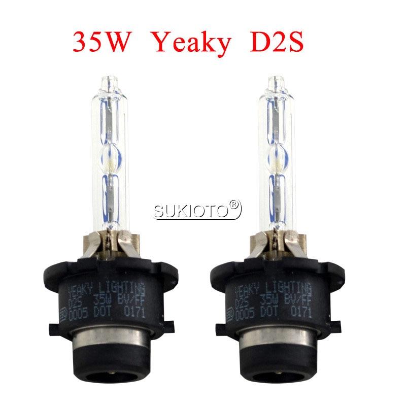 SUKIOTO Original 35W Yeaky HID Xenon Bulb D1S D3S Car Headlight HID Bulb 35W D2S D2R D4R D4S 4500K 5500K 6500K Yeaky Xenon Bulb (18)