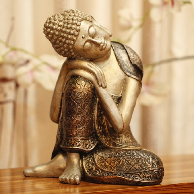 Vintage Home Decor Creative Buddha Resin craft Chinese ornaments ...