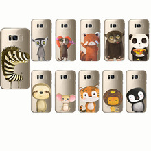 cute animal Phone zebra penguin Bear fox Koalas lion panda tiger rabbit Case for Samsung Galaxy S6 S7 S8 S9 edge plus Note 4 5 8