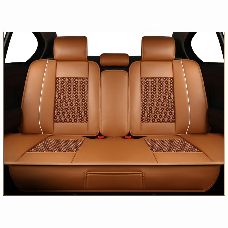 Surprising Us 65 45 45 Off Rear Leather Universal Car Seat Covers For Citroen C1 C3 Xr C4 C4L C5 C6 C Elysee Picasso Car Styling Auto Protector In Automobiles Theyellowbook Wood Chair Design Ideas Theyellowbookinfo