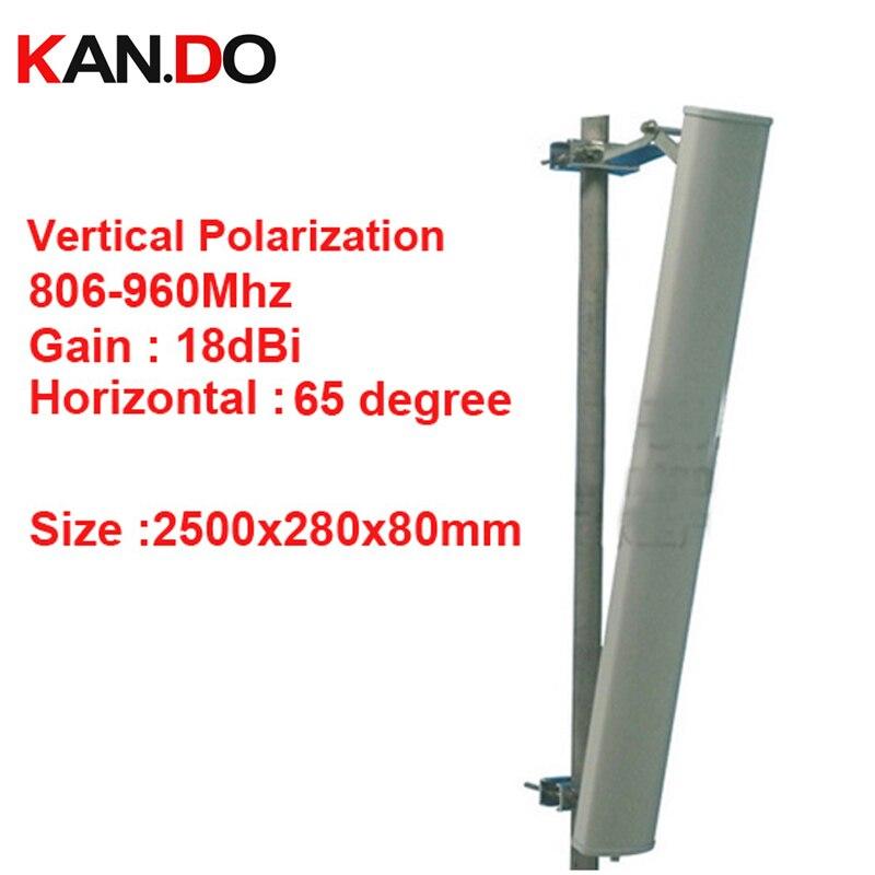2.5 mètre grand 18dbi polarisation verticale 65 degrés 806-960 Mhz panneau antenne GSM Base station utiliser antenne CDMA GSM antenne FDD LTE