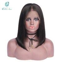 Brazilian Remy Hair Lace Front Human Hair Wigs For Black Women Short Bob Cheap Wigs Natural