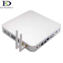 Без вентилятора Тонкий клиент PC, 1080 P HDMI Mini Настольный компьютер, Intel Celeron 1037U Dual Core 1.8 ГГц 4 г Оперативная память 320 г HDD, металлический корпус