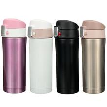 Heißer Verkauf 350 ml/450 ml Raumbecher Büro Tee Kaffee Tasse Wasserflasche Edelstahl Isolierung Tasse heiße Und Kühlung 6 Farbe
