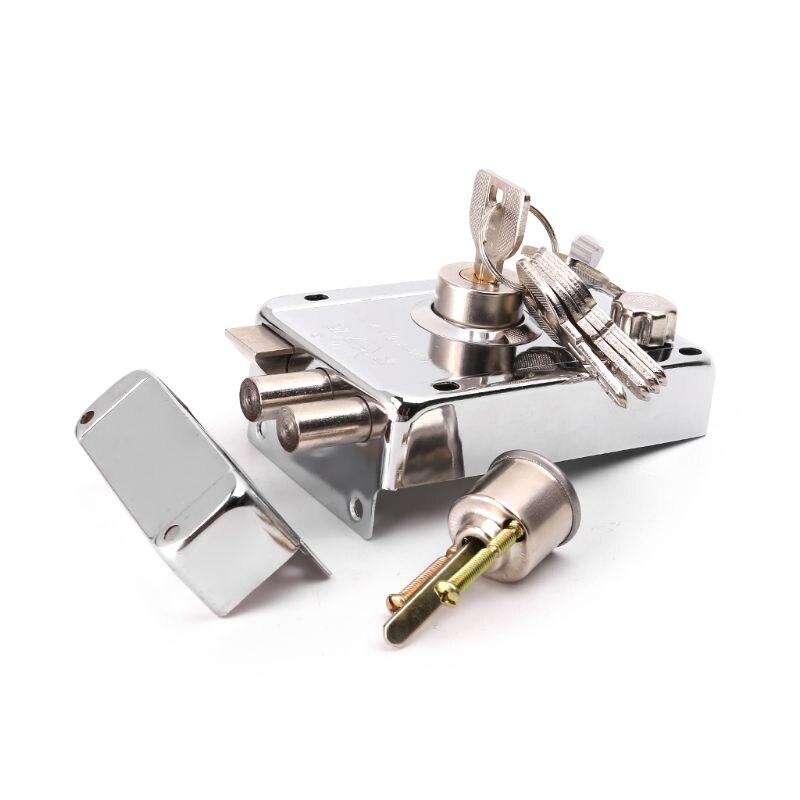1Set Exterior Door Lock Kit Security Anti-theft Locks With Multiple Insurance1Set Exterior Door Lock Kit Security Anti-theft Locks With Multiple Insurance