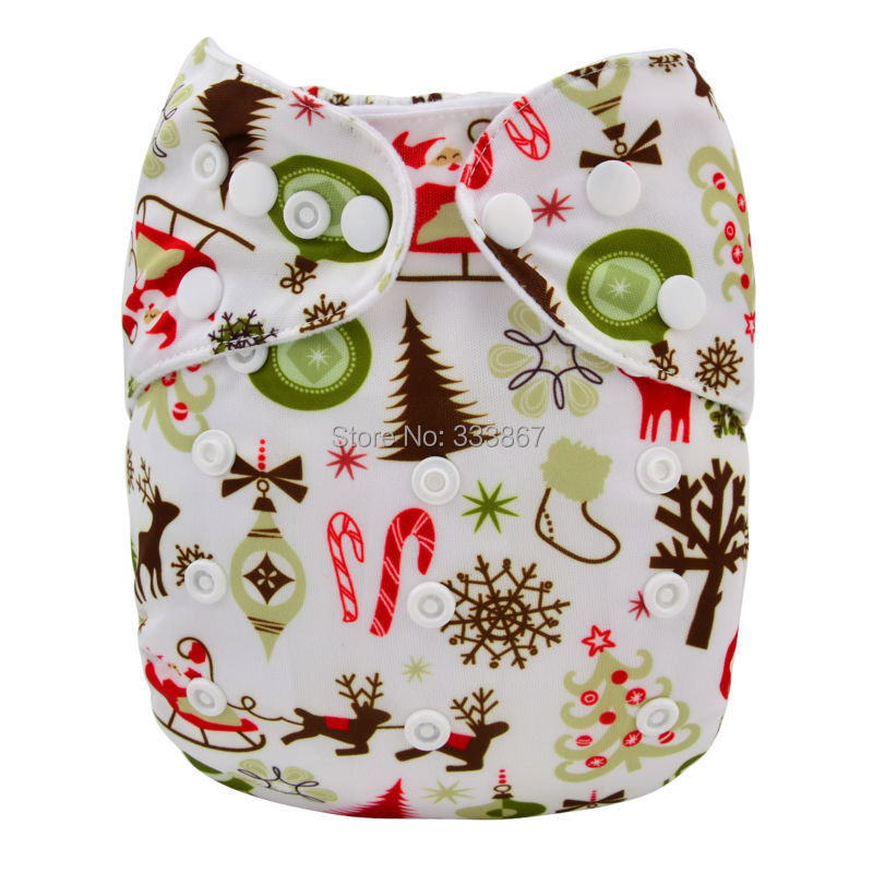 1 New Design Christmas Tree Snow Baby Infant Pocket Cloth Diaper,1 ...