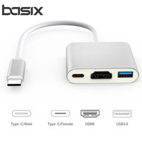 Type C USB 3 0 Hub Adapter 3 In 1 USB C To HDMI USB3 0