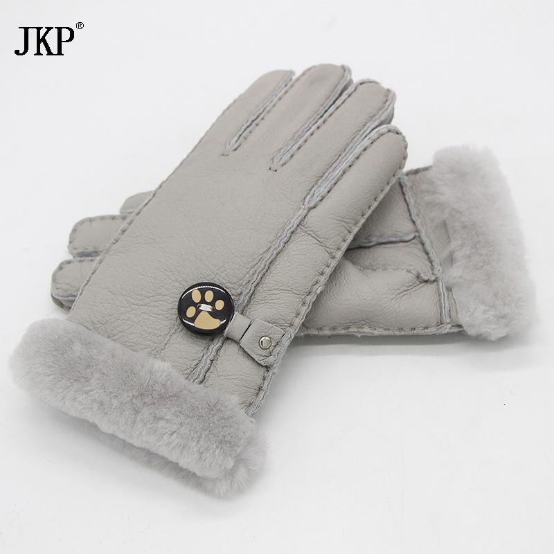 2017 Winter Leather Gloves Russian Lady Gloves Warm Gloves Sheepskin Leather Real Wool Lining A Variety Of Colors