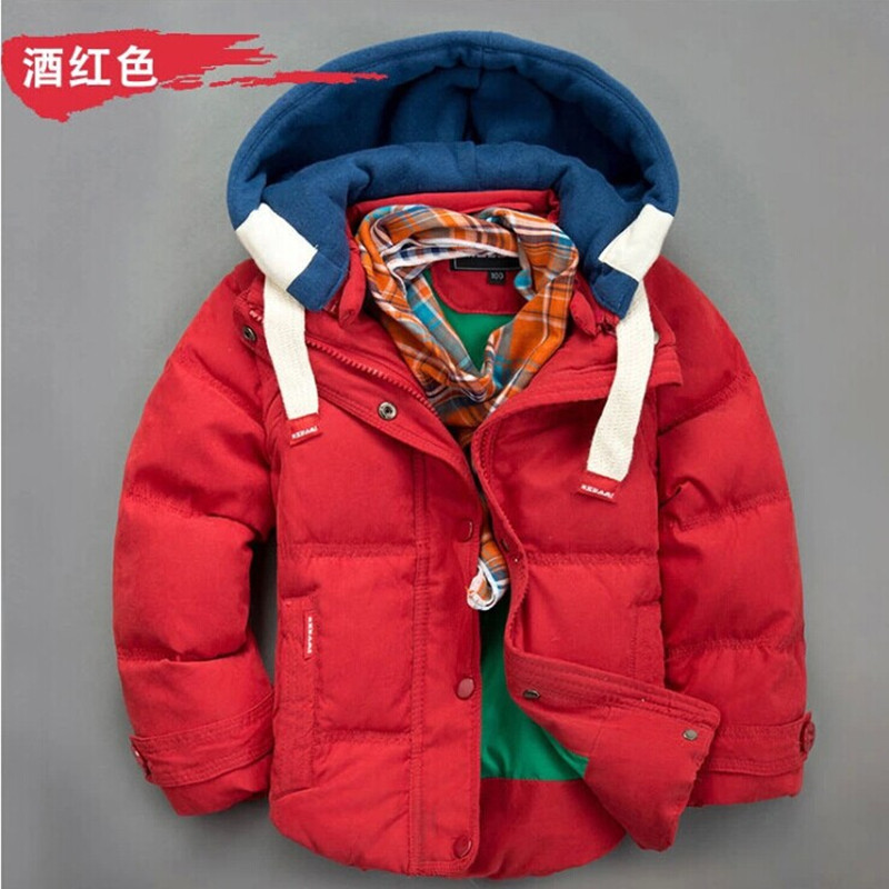 ФОТО Promotion New arrival Children boys Warm outercoats Down Jackets For 3-9 years old boys