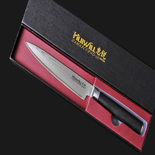 Cooking knife 6 inch chef knife best professional kitchen knife stainless steel laser veins easy grip knife hot sales
