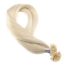 Moresoo, u-образная машинка, Remy, бразильские человеческие волосы для наращивания, накладные волосы, цвет#60, блонд, волосы для наращивания, 1 г/1 S, 50 г